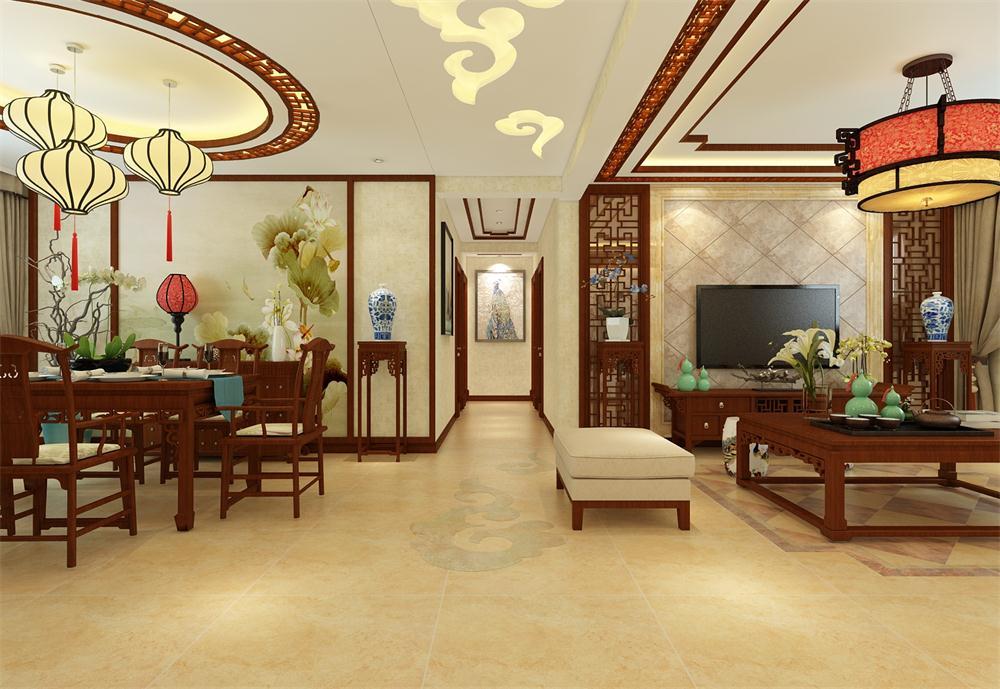 中式 客厅图片来自乐豪斯装饰马志在保利拉菲公馆新中式装修效果图的分享