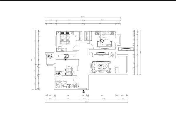 从入户门进入,顺时间旋转,依次为卫生间、厨房、次卧、主卧、客厅。整个空间动线十分明确,户型也比较规整,还是比较适宜一家三口居住的。
