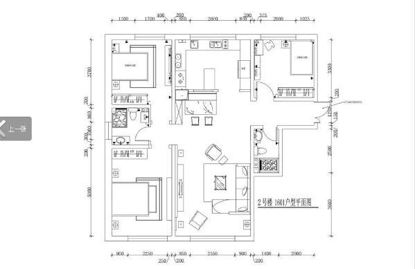 该户型总体格局比较完整,户型比较规则,设计时无需拆改,流动空间比较充足,采光条件较为充足。