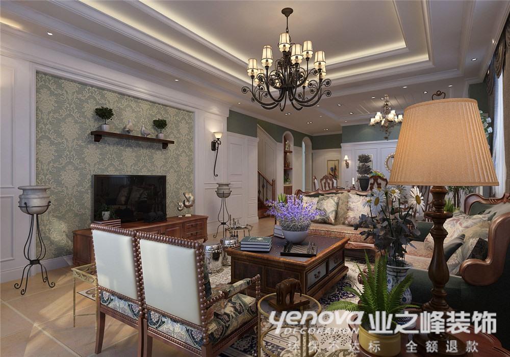 美式 别墅 客厅图片来自青岛业之峰官方客服--小万在青岛小镇 330平 美式风格的分享