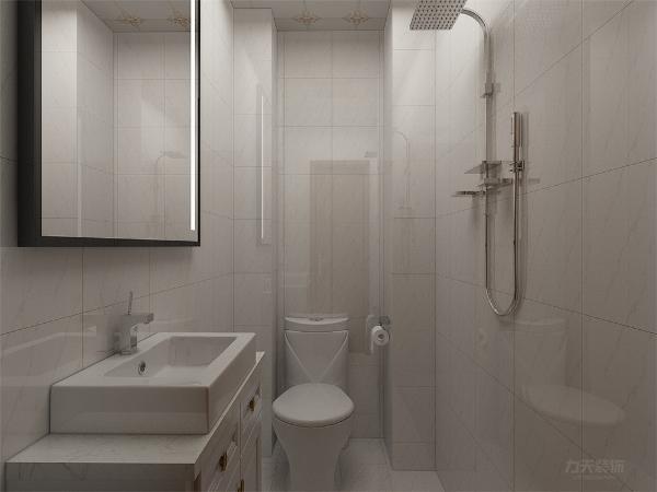 卫生间布局合理,设施齐全。利用有限的空间放置最多的东西