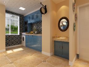 地中海 三居 收纳 小资 厨房图片来自阳光力天装饰在地中海风格-远洋城-104.78㎡的分享