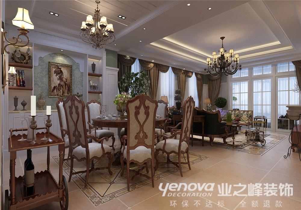 美式 别墅 餐厅图片来自青岛业之峰官方客服--小万在青岛小镇 330平 美式风格的分享
