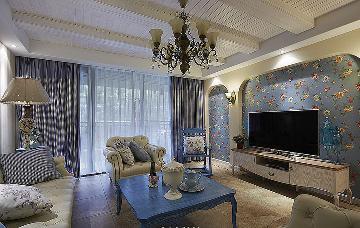品质时尚 107平地中海自然3居室