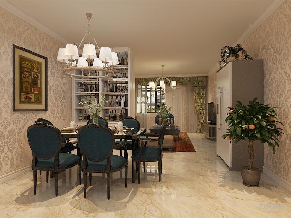 在家具的选择上选择暗红色和白色带有西方复古的图案,线条以及比较西式的造 型。