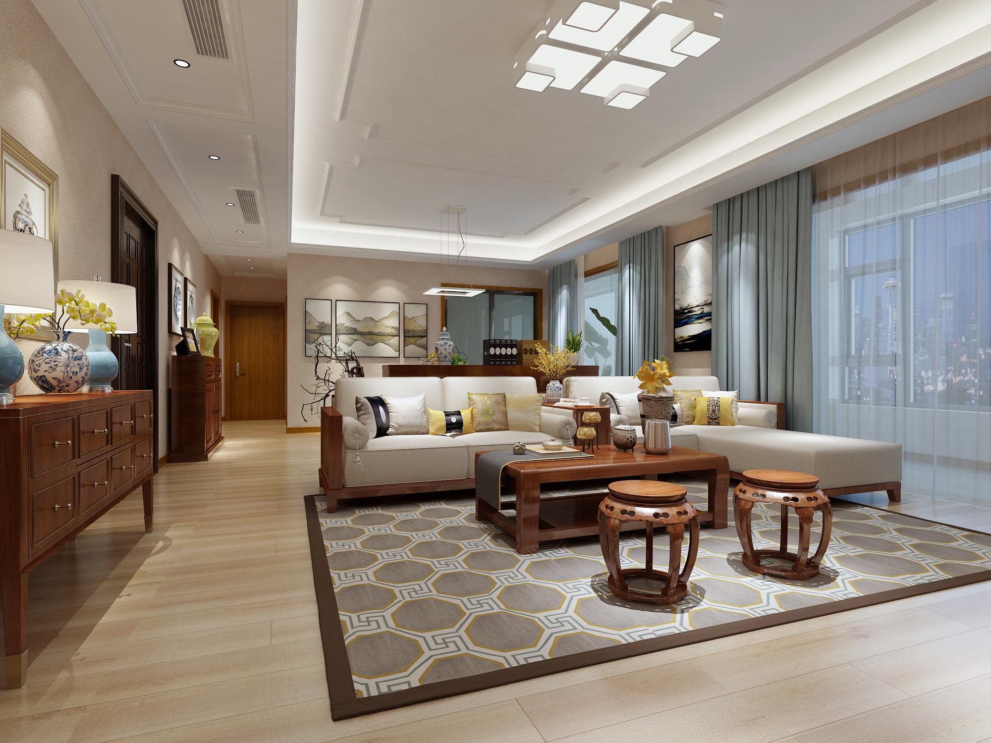 新中式 生活家 青岛 职工宿舍 客厅图片来自青岛生活家家居科技有限公司在山大青岛校区职工宿舍的分享
