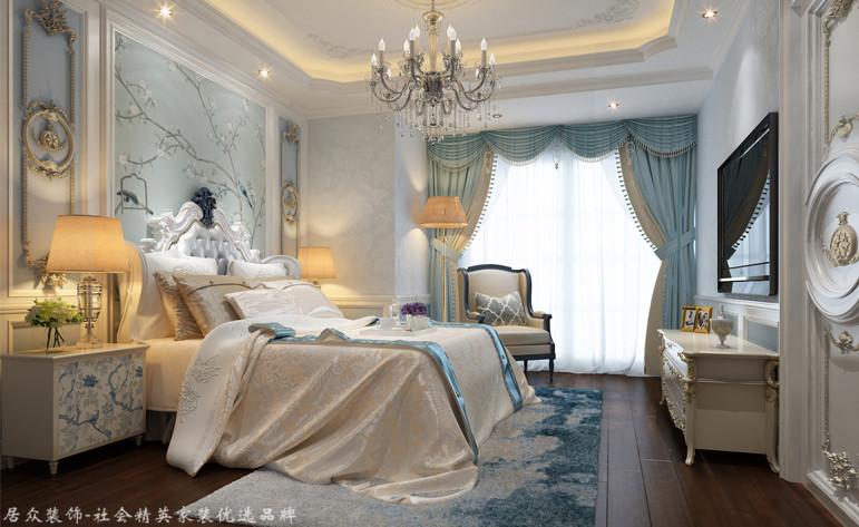 欧式 别墅 卧室图片来自杭州居众装饰集团设计院在田园牧歌-欧式风格-500平的分享