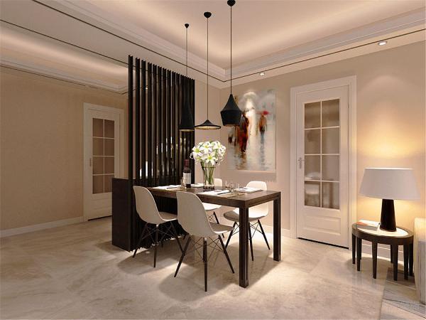 客餐厅采用800*800大地砖正铺,客厅中央用一个大吊灯,周边有孔灯互相辉映,餐厅天花采用三个小吊灯,就餐时创造了一个温馨浪漫的氛围;