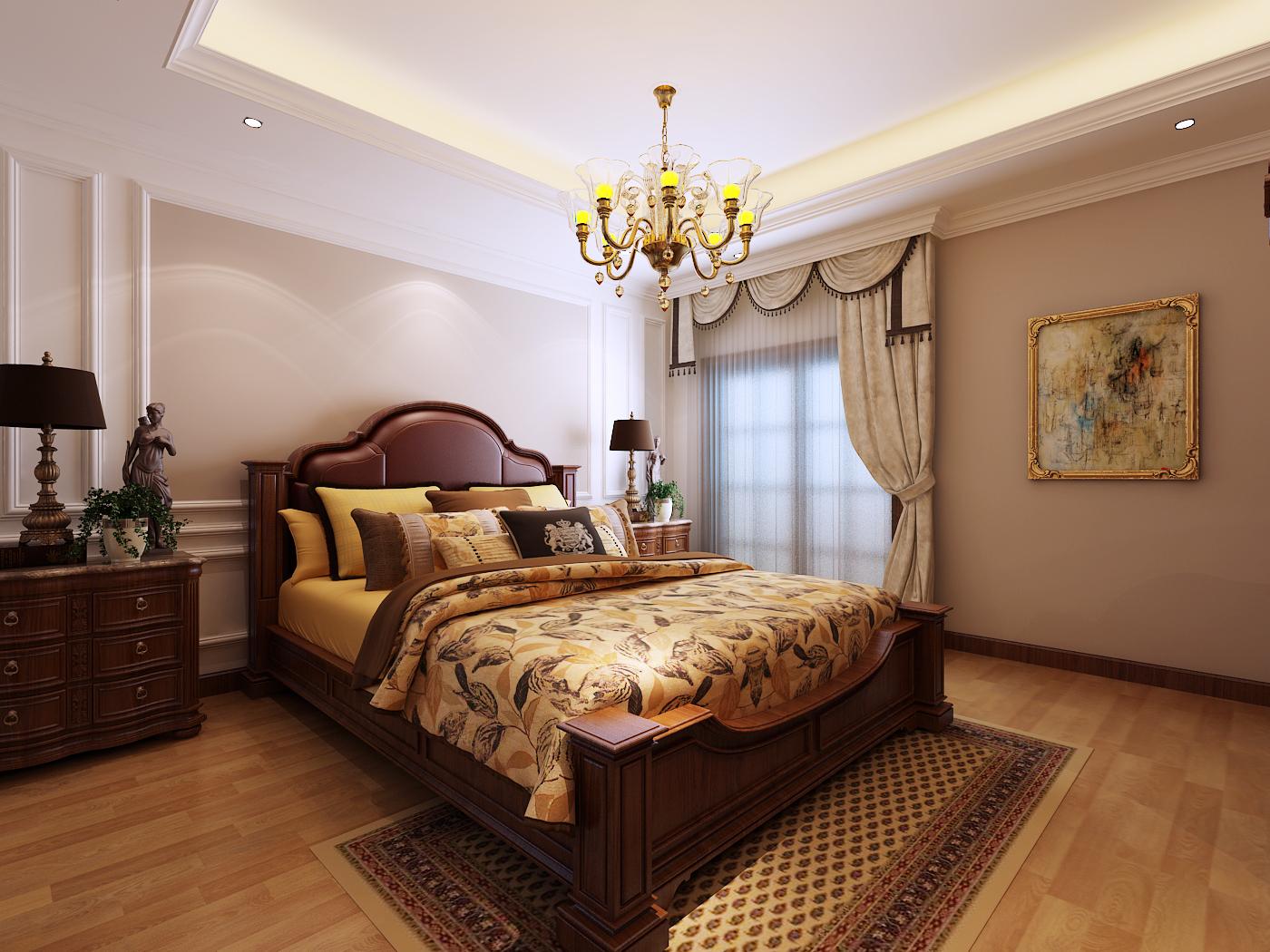 龙湖滟澜海 欧式 别墅 卧室图片来自青岛生活家家居科技有限公司在龙湖滟澜海岸的分享