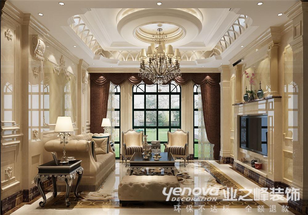 客厅图片来自青岛业之峰装饰--小娟在骊山国际 欧式的分享