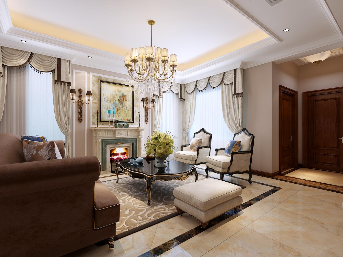 龙湖滟澜海 欧式 别墅 客厅图片来自青岛生活家家居科技有限公司在龙湖滟澜海岸的分享