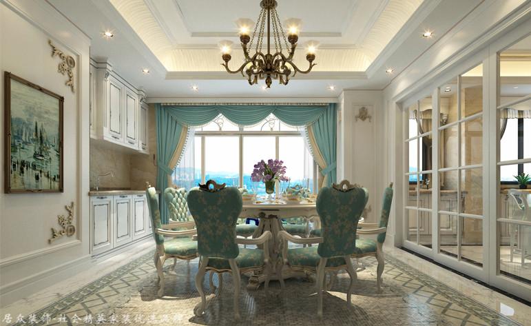 欧式 别墅 餐厅图片来自杭州居众装饰集团设计院在田园牧歌-欧式风格-500平的分享