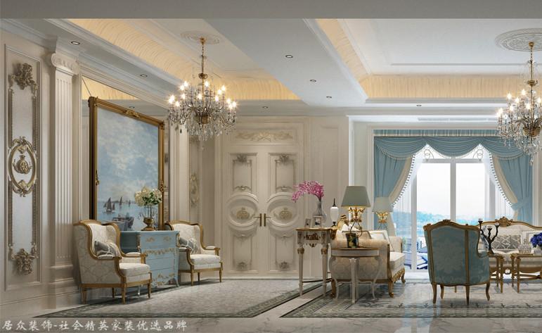 欧式 别墅 客厅图片来自杭州居众装饰集团设计院在田园牧歌-欧式风格-500平的分享