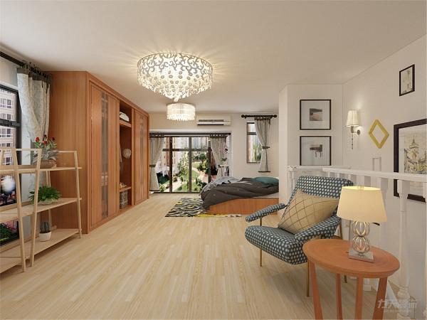 这样既能节省空间又能增加储物功能,家具整体选用木质,简单时尚,灯具采用吸顶灯,来拉高空间感,厨房的橱柜,则选用白色吸塑木纹的材质,是空间增加亮度,与家具形成反差,。