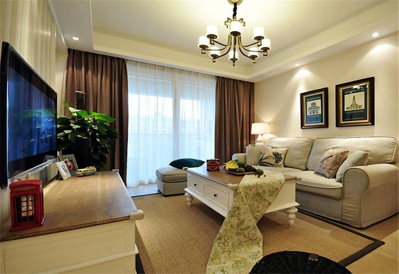 简约 二居 温馨 客厅图片来自西安福尚装饰家装体验馆在浐灞半岛93平装修的分享