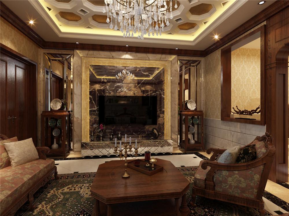 别墅 收纳 小资 美式 客厅图片来自天津白天鹅装饰工程有限公司在俊城御墅,美式风的分享