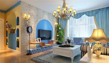 金盏嘉园2室1厅1卫90㎡地中海
