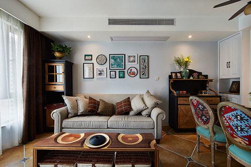 小户型装修 苹果装饰 二居 美式风格 收纳 客厅图片来自武汉苹果装饰在苹果装饰 金岛御璟世家的分享