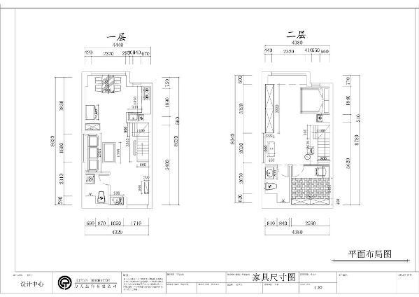 本案为天津尚佳新苑一loft户型,面积大约为92平米,下面是对本户型的设计。