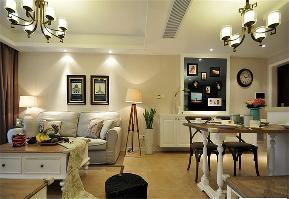 简约 二居 温馨 餐厅图片来自西安福尚装饰家装体验馆在浐灞半岛93平装修的分享