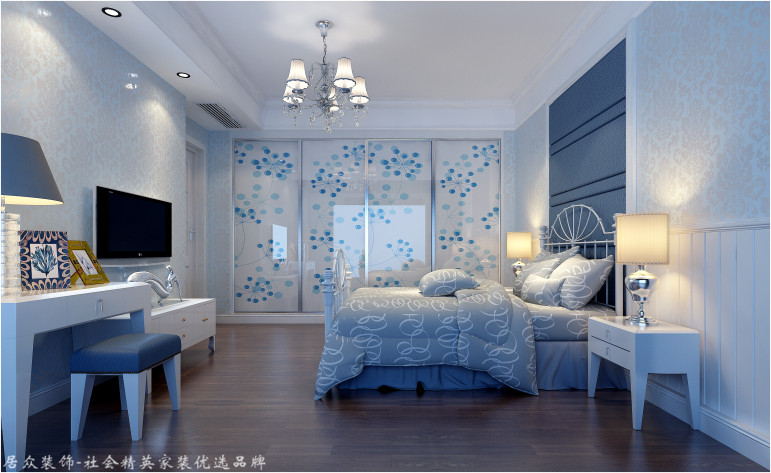 欧式 别墅 卧室图片来自杭州居众装饰集团设计院在泊林漫谷-欧式风格-300平的分享