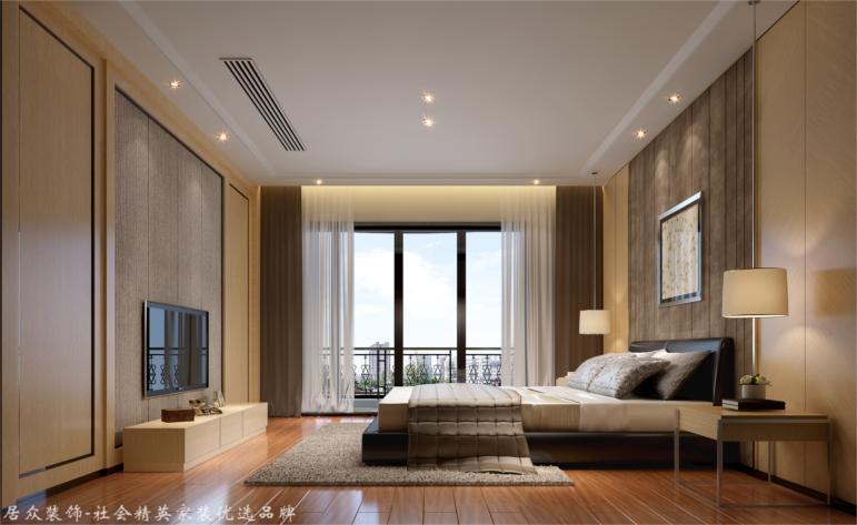 中式 别墅 卧室图片来自杭州居众装饰集团设计院在富越香溪-中式风格-398平的分享
