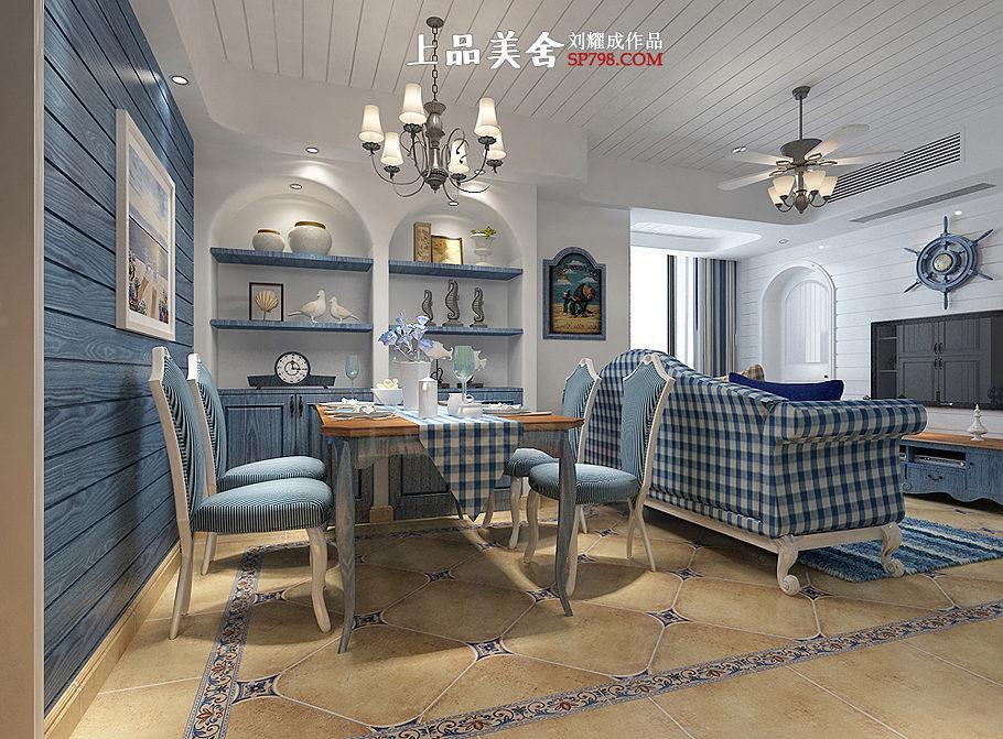 二居 旧房改造 80后 地中海 客厅图片来自刘耀成在情定爱琴海的分享