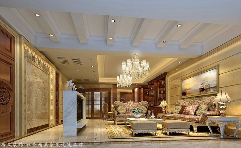 欧式 四居 客厅图片来自合肥居众装饰设计工程有限公司在宝利丰广场-欧式风格-160㎡的分享