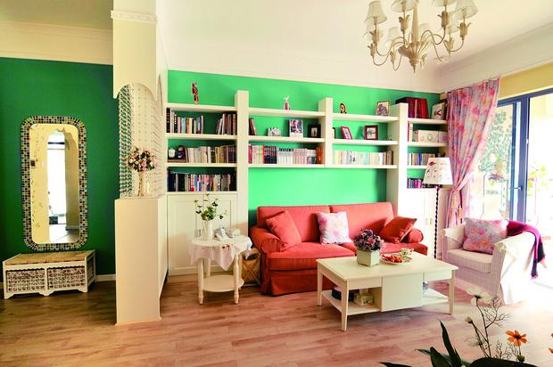 田园 二居 书房设计 苹果装修 客厅图片来自武汉苹果装饰在苹果装饰-中民仁寿里的分享