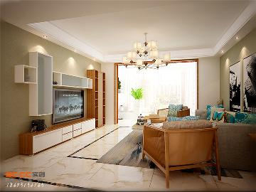 家和蓝岸丽舍160㎡现代三居