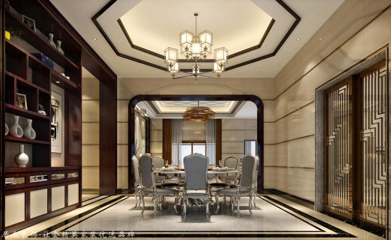 中式 别墅 餐厅图片来自杭州居众装饰集团设计院在美丽洲别墅-中式风格-380平的分享