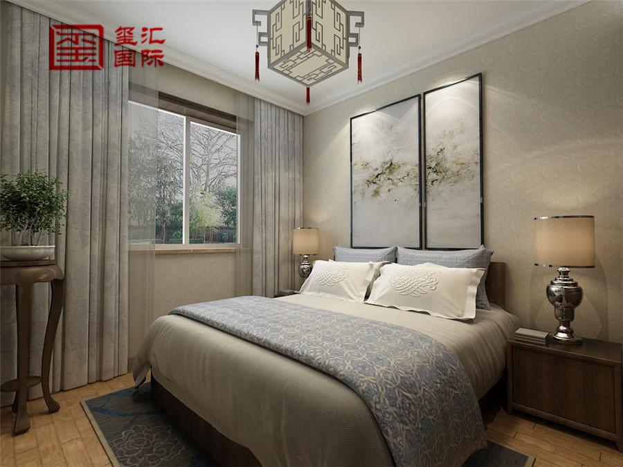中式 三居 玺汇国际 80后 卧室图片来自河北玺汇国际装饰公司在158平盛世御城中式风格的分享