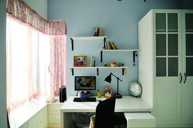 田园 二居 书房设计 苹果装修 书房图片来自武汉苹果装饰在苹果装饰-中民仁寿里的分享