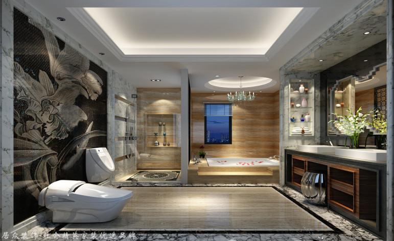 中式 别墅 卫生间图片来自杭州居众装饰集团设计院在美丽洲别墅-中式风格-380平的分享
