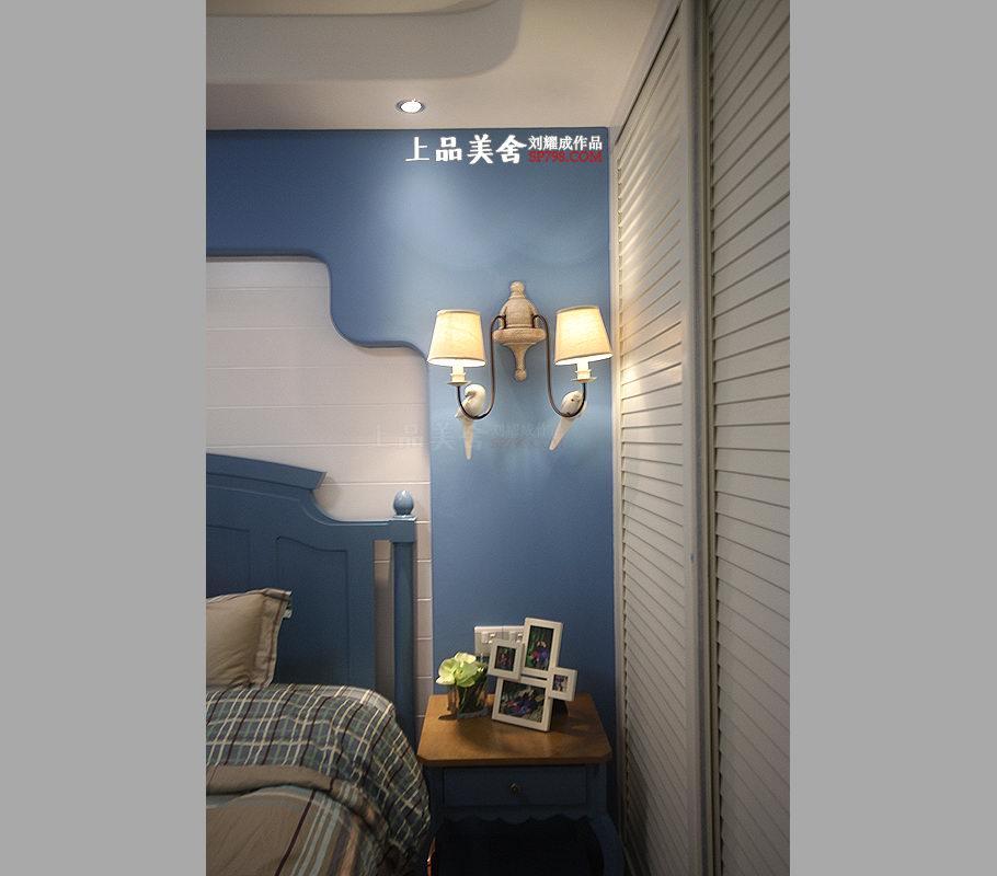 二居 旧房改造 80后 地中海 卧室图片来自刘耀成在情定爱琴海的分享