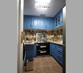 二居 旧房改造 80后 地中海 厨房图片来自上品美舍在情定爱琴海的分享