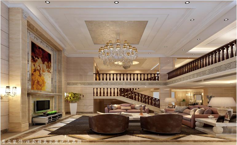 欧式 别墅 客厅图片来自杭州居众装饰集团设计院在泊林漫谷-欧式风格-300平的分享