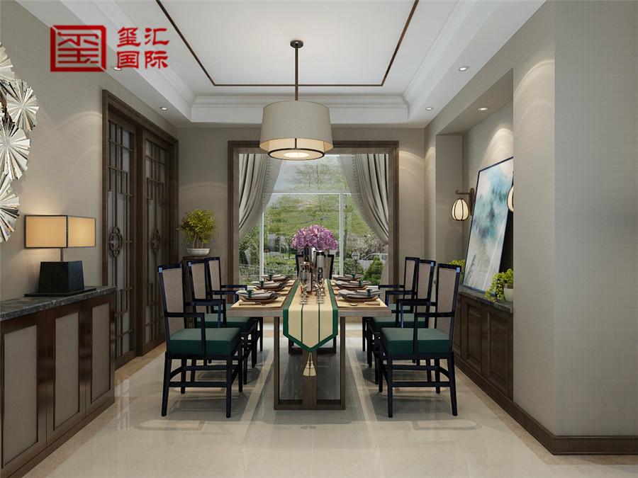 中式 三居 玺汇国际 80后 餐厅图片来自河北玺汇国际装饰公司在158平盛世御城中式风格的分享