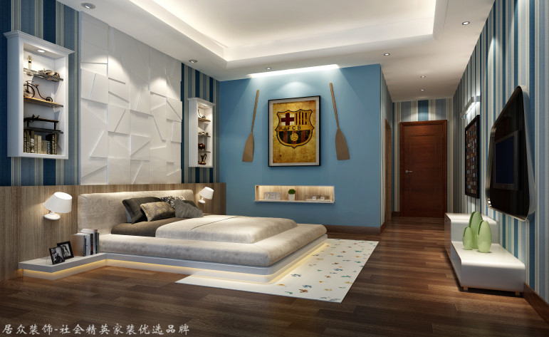 中式 别墅 卧室图片来自杭州居众装饰集团设计院在美丽洲别墅-中式风格-380平的分享
