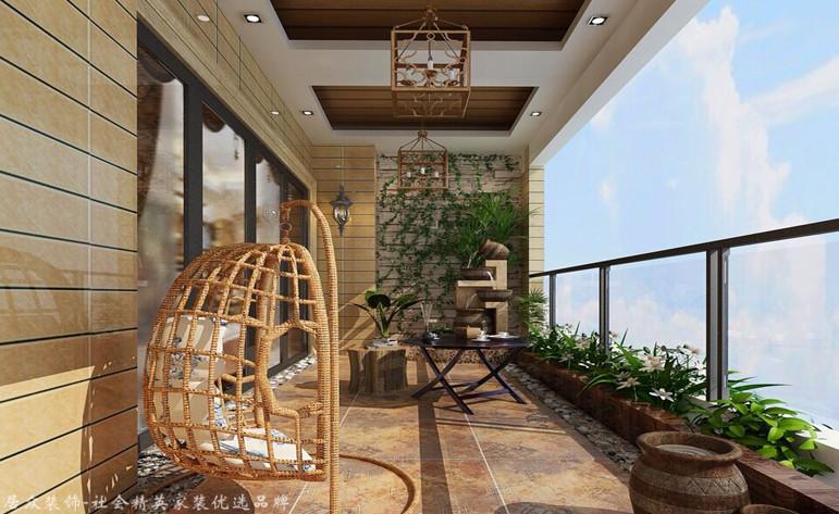 简欧 四居 阳台图片来自杭州居众装饰集团设计院在蓝色钱江-简欧风格-227平的分享