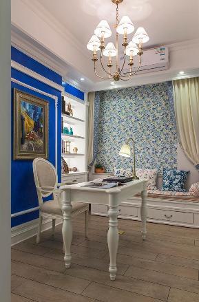 三居 地中海 苹果装修 书房设计 小资 书房图片来自武汉苹果装饰在远洋心汉口二期的分享
