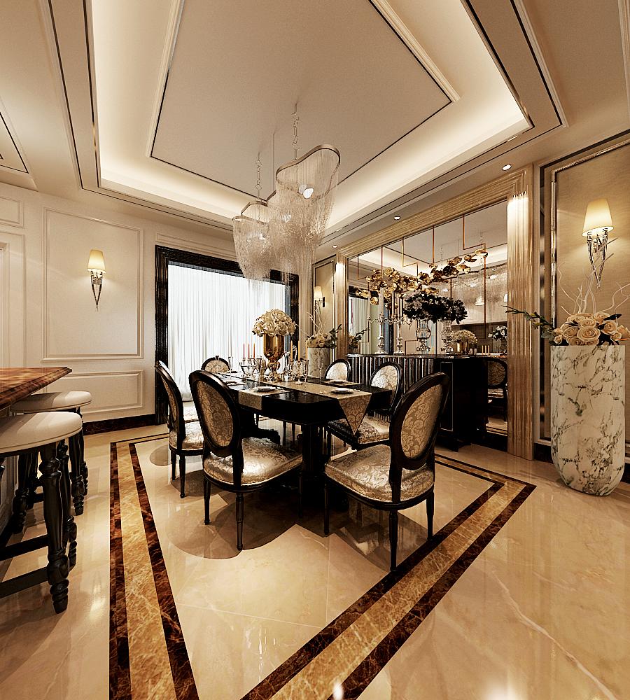 新古典 三居 收纳 旧房改造 80后 小资 餐厅图片来自天津白天鹅装饰工程有限公司在亿城堂庭 新古典的分享