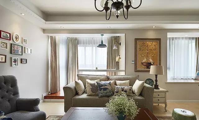 客厅图片来自实创装饰上海公司在89平现代美式家的分享