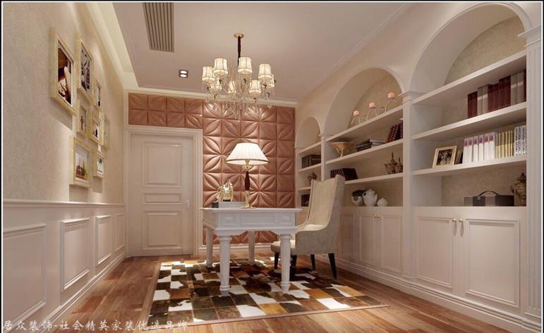 简欧 四居 书房图片来自杭州居众装饰集团设计院在蓝色钱江-简欧风格-227平的分享