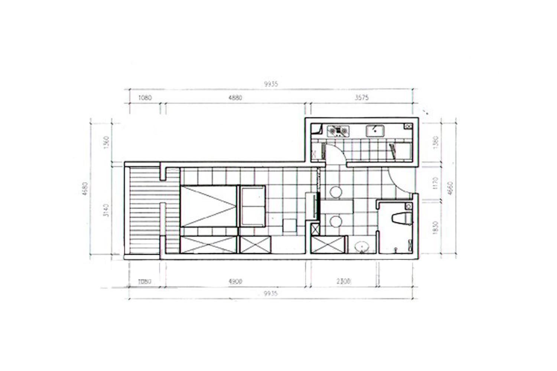 简约 混搭 白领 收纳 旧房改造 80后 小资 户型图图片来自厅宇设计在30平的东南亚演绎—厅宇设计出品的分享
