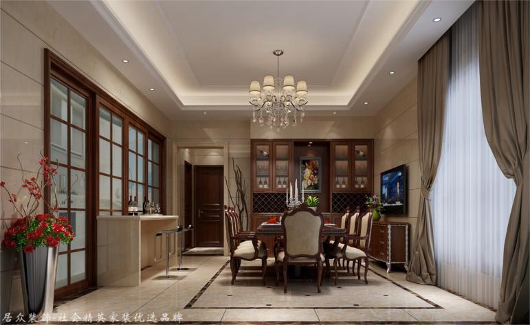 简欧 别墅 餐厅图片来自杭州居众装饰集团设计院在赞成良著-简欧风格-310平的分享