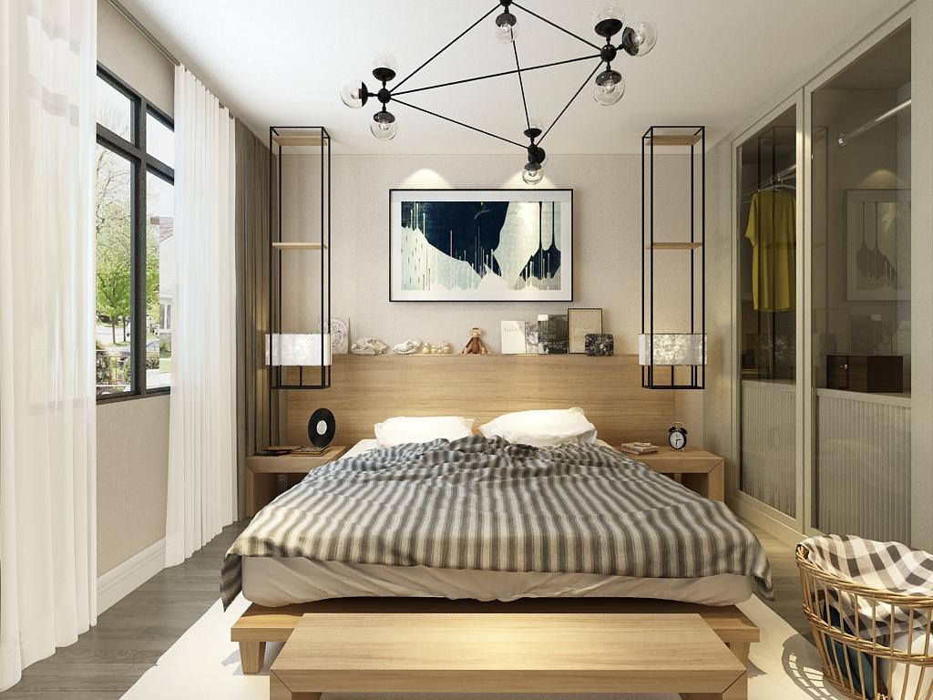 简约 二居 卧室图片来自石家庄阳光力天装饰在翰林观天下-82㎡-现代的分享
