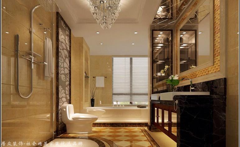 简欧 四居 卫生间图片来自杭州居众装饰集团设计院在蓝色钱江-简欧风格-227平的分享