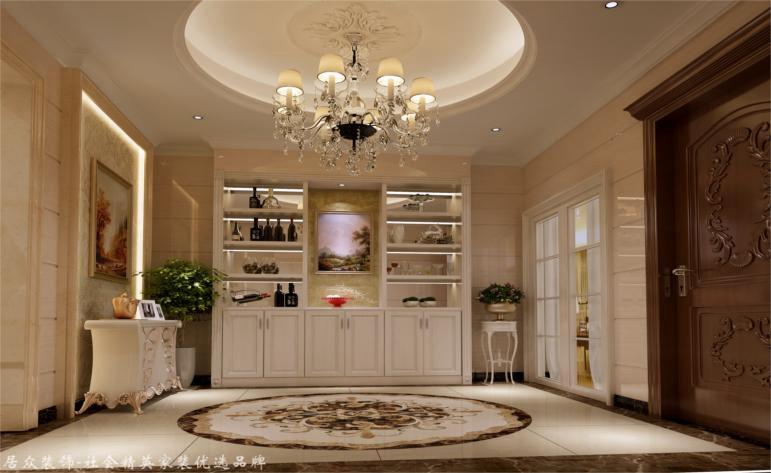 简欧 别墅 玄关图片来自杭州居众装饰集团设计院在赞成良著-简欧风格-310平的分享
