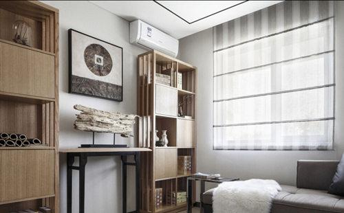 新中式 三居 苹果装饰 书房设计 全包装修 书房图片来自武汉苹果装饰在苹果装饰-金地澜菲溪岸的分享